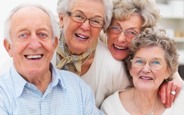the gift of aging a group of smiling elderly people