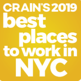 Crain's 2019 best places to work in NYC Logo